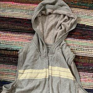 Dkny sleeveless  90s style vintage  gray hoodie